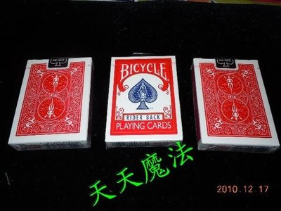 【天天魔法】【A801】紅色 (舊牌盒) Bicycle808 原廠撲克牌(紅背牌下標處)