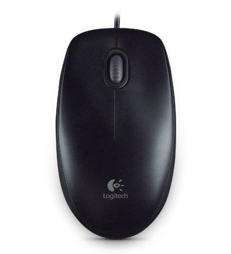 【鳥鵬電腦】Logitech 羅技 B100 光學滑鼠 USB介面 雙手適用的舒適設計 800 dpi光學精準度