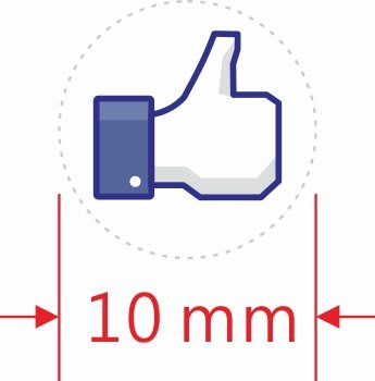 FB讚牌-透明貼紙-1公分圓型,透明貼紙-2公分圓型