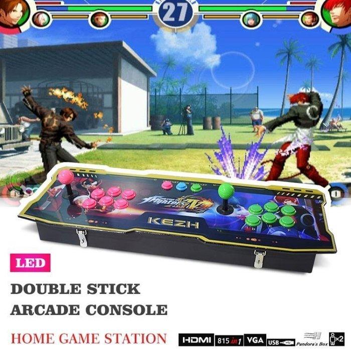 【不二藝術】拳皇97家用街機雙人搖桿手柄控臺格斗月光寶盒4S 雙人電玩游戲機BYYS149