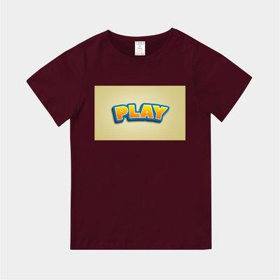 T365 MIT 親子裝 T恤 童裝 情侶裝 T-shirt 標語 話題 口號 標誌 美式風格 slogan PLAY