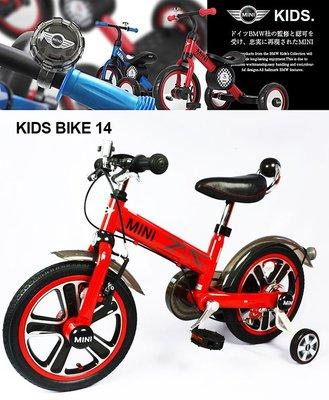 【C0013】愛妮童裝 免運費 預購 英國Mini Cooper 腳踏車14吋 總代理公司貨 正貨 保固一年