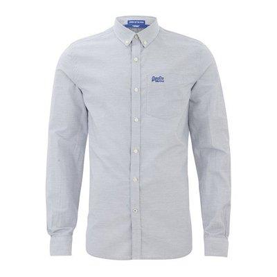 【Superdry】極度乾燥現貨S及M,男橫條紋長袖襯衫,不輸AF、Lacoste、ralph lauren