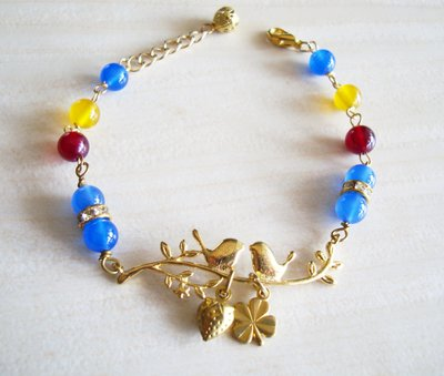 Sophia accessories【 簡愛 】 寶石黃銅手鍊 手作&私飾 輕珠寶
