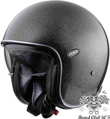 ♛大鬍子俱樂部♛ Premier ® U9 Glitter Silver 義大利 原裝 復古 Jet 安全帽 內墨片