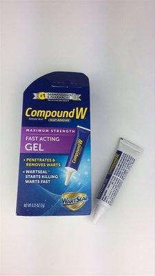 有現貨美國代購Compound W Maximum Strength Fast Acting Gel去肉瘤去跖疣雞眼凝膠