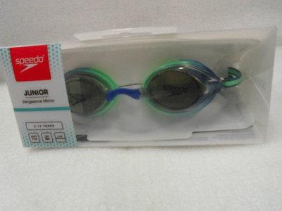 【n0900台灣健立最便宜】2020 Speedo 兒童競技鏡面泳鏡 Vengeance SD811325D651(6~