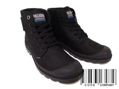 =CodE= PALLADIUM MONO CHROME LEA WP 防水皮革軍靴(黑) 73967-001英倫 女