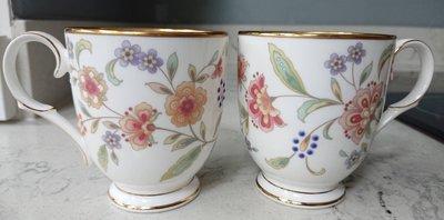 Noritake 金邊骨瓷馬克對杯 2杯一組 咖啡杯 茶杯