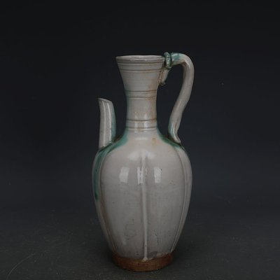 ㊣姥姥的寶藏㊣ 唐代邢窯白釉點彩手工瓷刮徑執壺  出土古瓷器古玩古董收藏品