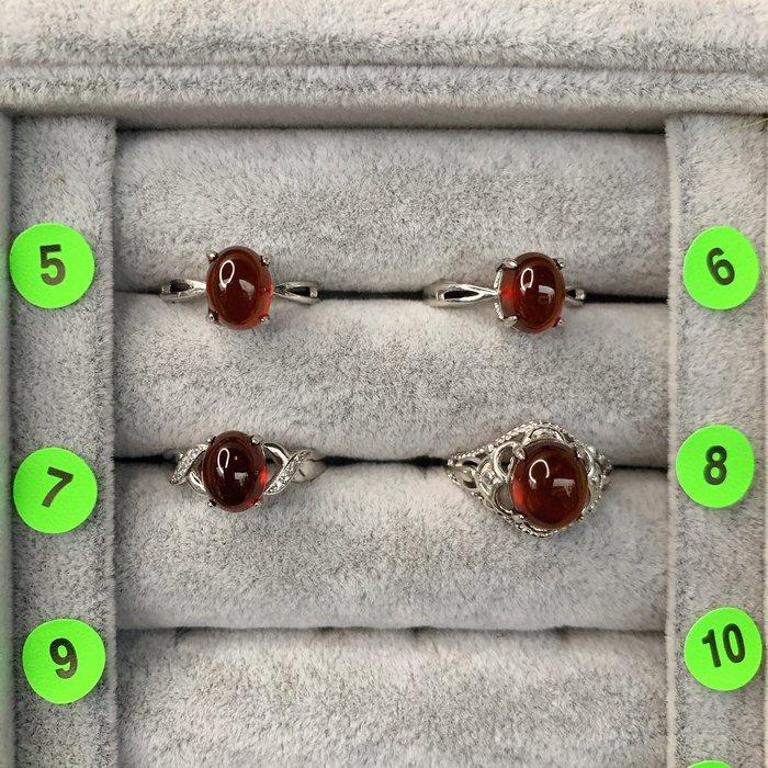 [滿藝精選] 精品水晶戒❤️天然橙石榴戒指  非鈦晶手排 紫鈦手排 晶洞
