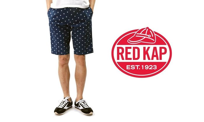 GOODFORIT / 工作品牌RED KAP 日本限定支線10盎司斜紋布材滿版船矛元素短褲