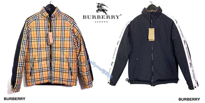 十年老店!現貨!絕對原廠正品BURBERRY 18年官網新款 雙面可穿白鵝絨輕便羽絨服 男女同款-尺碼齊全!