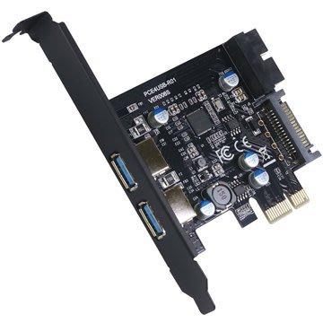 伽利略 PCI-E USB3.0 4埠   擴充卡 (前2-19pin+後2 port)(PEN-219)