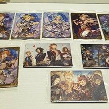 Bandai granblue fantasy wafer 2 碧藍幻想 2 餅卡 9張 saber fate one piece love live