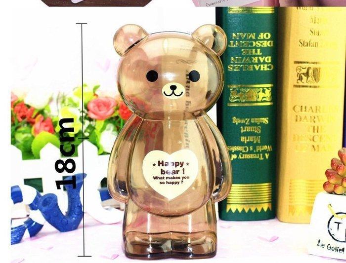 小乖乖123Papi百貨 透明熊 隨機出貨區 熊撲滿 熊存錢筒 生日禮物 贈品 豬撲滿  公仔 萌還超可愛快帶我回家吧