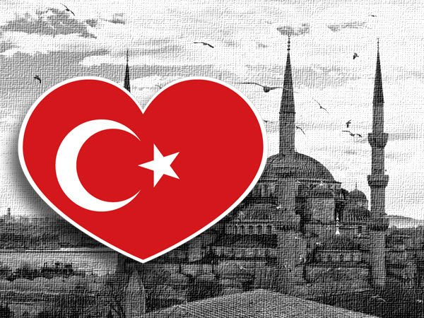 【衝浪小胖】土耳其國旗抗UV、防水愛心形登機箱貼紙/Turkey/各國都有販賣和客製