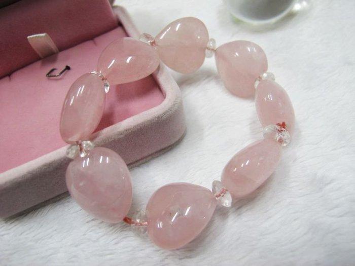 二手舖~ NO.28 天然粉水晶 水晶手鍊 項鍊 串珠