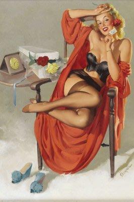 現代裝飾畫俏麗舊時光Gil Elvgren美國性感女郎pin up框
