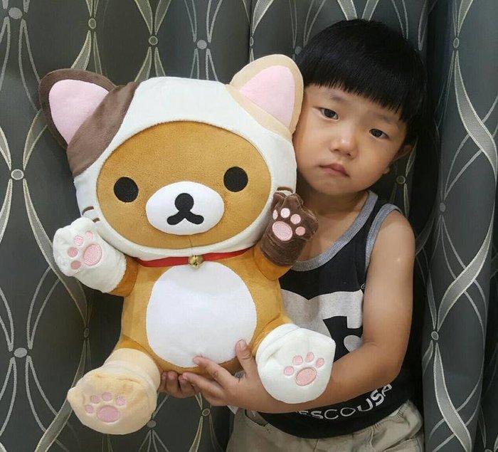 可愛拉拉熊玩偶/懶懶玩偶~拉拉熊娃娃~(Rilakkuma)正版授權~拉拉熊貓咪裝
