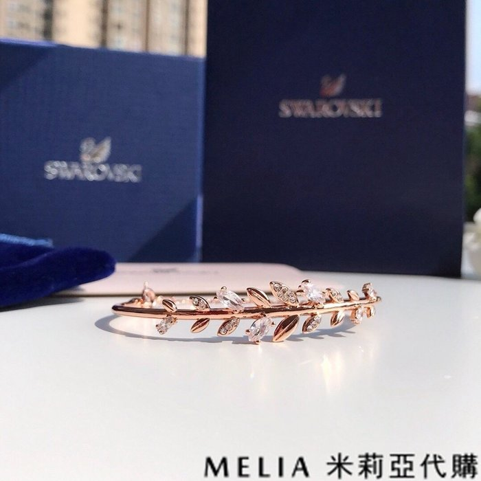 Melia 米莉亞代購 0305 19ss Swarovski 施華洛世奇 MAYFLY 手鐲 撫媚優雅設計 玫瑰金