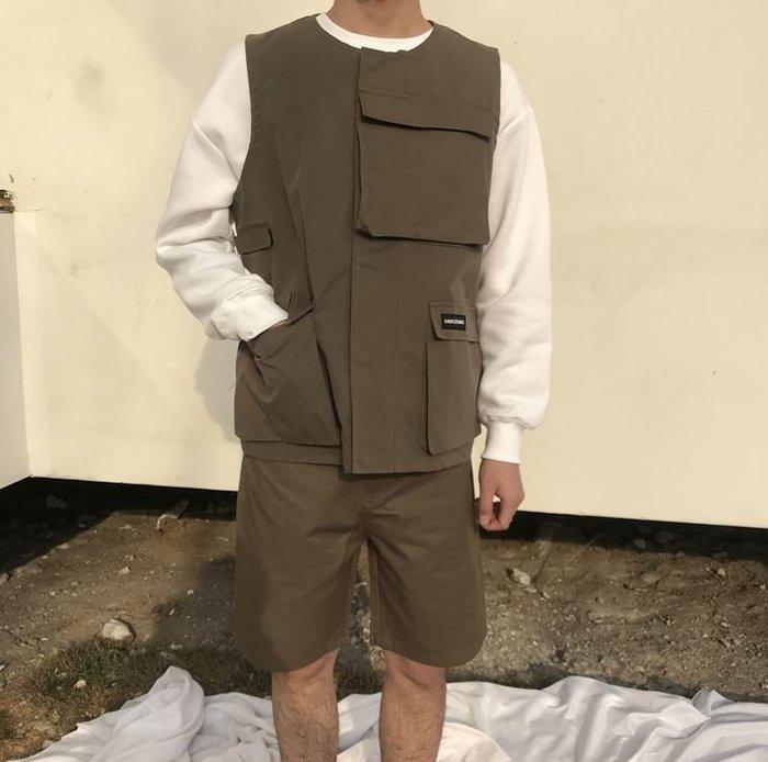 【NoComment】日系休閒潮流 機能型時尚素面口袋馬甲 三色可選 Neighborhood
