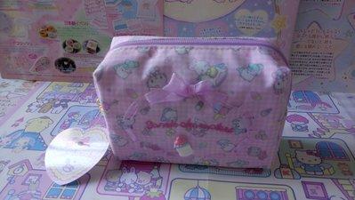 雙子星店 Sanrio 小奶樽 Baby 粉紅化妝袋 儲物袋  Kitty Melody PC狗 Cheery Chums 日本