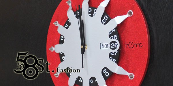 【58街】創意設計師款式「-蜘蛛俠-粉末冶金超靜音掛鍾」金屬特殊鍾。AB-131