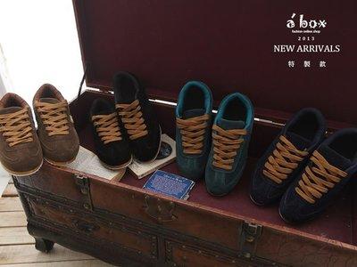 格子舖*【KV988】韓版休閒磨砂皮材質素面綁帶防滑休閒鞋 阿甘鞋 4色現貨
