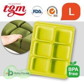 【魔法世界】韓國 Tgm FDA白金矽膠副食品冷凍儲存分裝盒/冷凍盒冰磚盒(6格45g) L  ( 顏色隨機 )