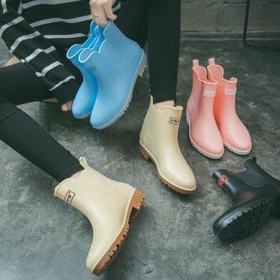 雨鞋女中筒雨靴成人防水套鞋韓國可愛短筒膠鞋防滑時尚水鞋   全館免運