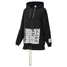 =CodE= REEBOK CLASSIC GRAPHIC ANORAK 防水尼龍連帽長T(黑)DT7302 滑雪衣 女