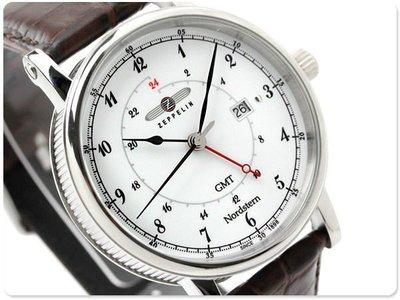 ZEPPELIN 齊柏林飛船 手錶 NORDSTERN GMT 41mm 德國 飛行錶 航空錶 7546-1