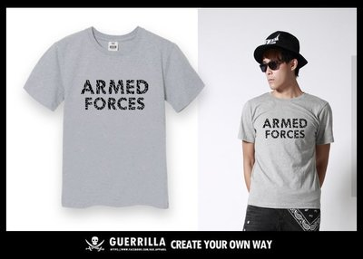 GUE - N62 - ARMED FORCE- 短T- GRAY