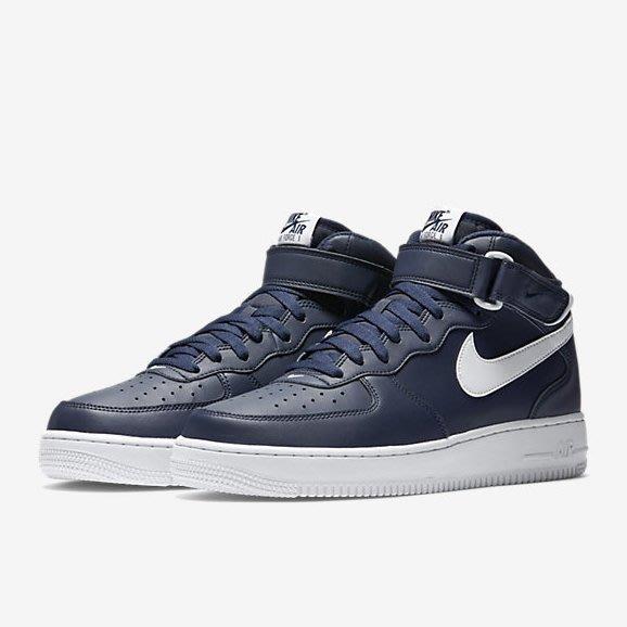 預購 3F美國代購 NIKE AIR FORCE 1 MID 07 AF1 海軍藍 315123-407 男鞋 us12