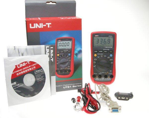 TECPEL 泰菱 》UNI-T 優利德 RS232 三用電表/三用電錶/USB風速.風溫計 UT-61E UT-362