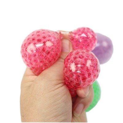 彩色珍珠 發洩球 出氣蛋/一個入(促25)水晶珠發洩球 紓壓水晶寶寶球 發洩玩具 擠壓球 捏捏樂-鑫