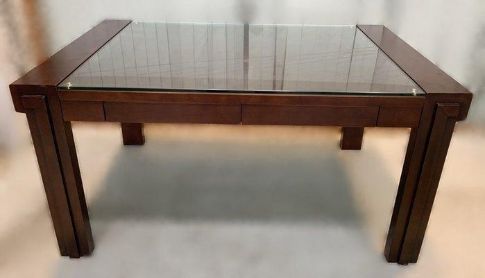 二手家具推薦【宏品二手家具】全新二手傢俱買賣E111604*胡桃4抽餐桌 *2手桌椅拍賣 會議桌椅 戶外休閒桌椅 課桌椅