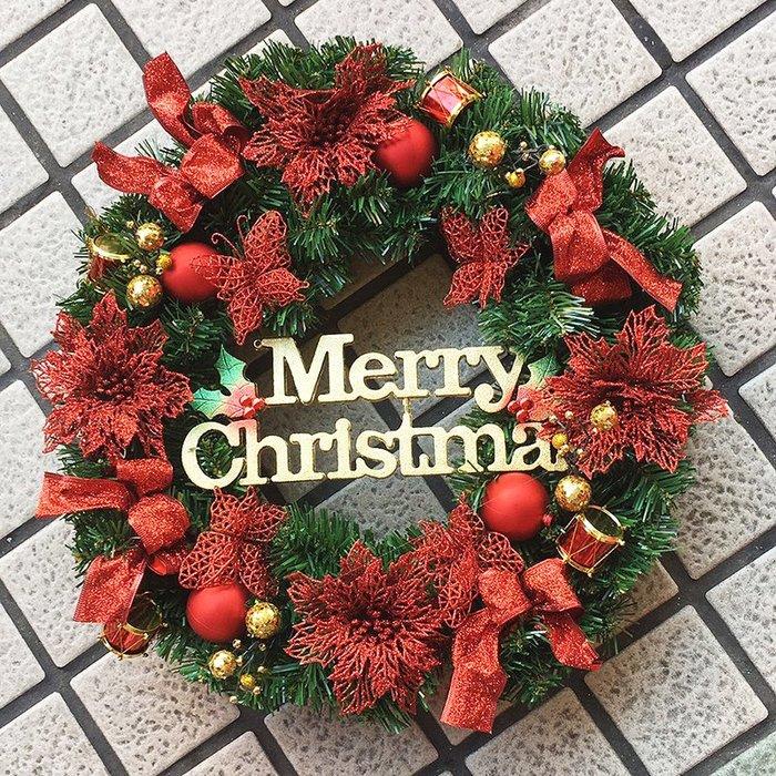 【洋洋小品55cm紅色手作聖誕花圈聖誕花環】桃園平鎮中壢聖聖誕節佈置聖誕樹藤聖誕藤圈聖誕衣聖誕帽金蔥聖誕紅聖誕花