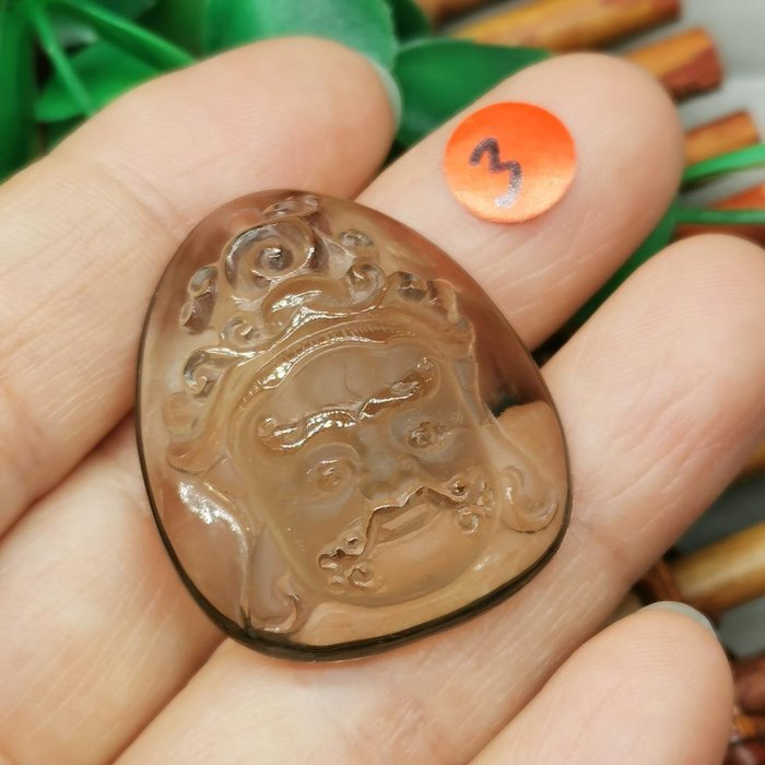 黃財神  高檔天然 茶水晶 項鍊墜 雕工精緻  ◎結緣價1280◎二姐的店W265-3