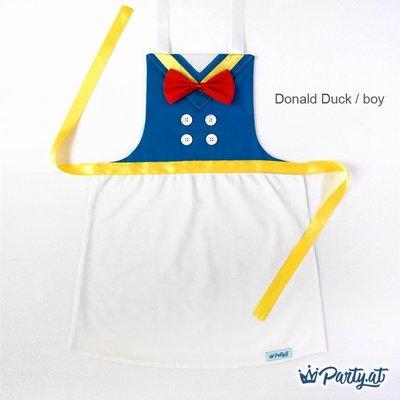 **party.at** 迪士尼 唐老鴨 男孩兒童圍裙 2-8Y 萬聖節 聖誕節服裝 小美人魚 冰雪奇緣 米奇米妮