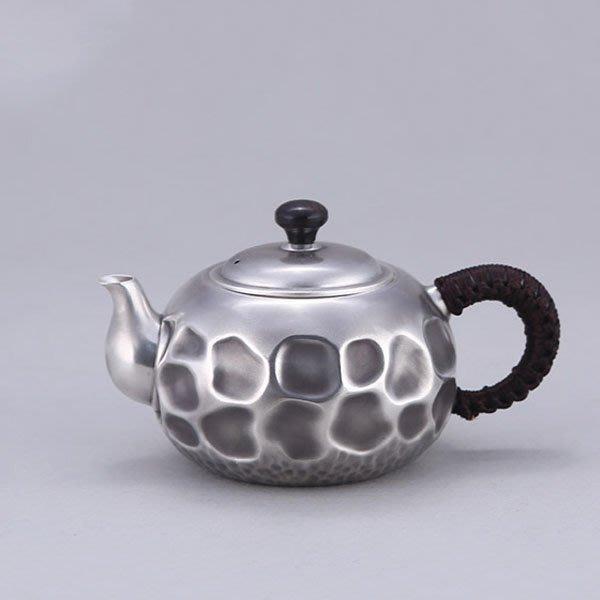 5Cgo【茗道】含稅會員有優惠 557261117209 日本原創純手工s999純銀茶壺茶杯泡茶茶海茶玩高檔泡茶壺銀壺茶