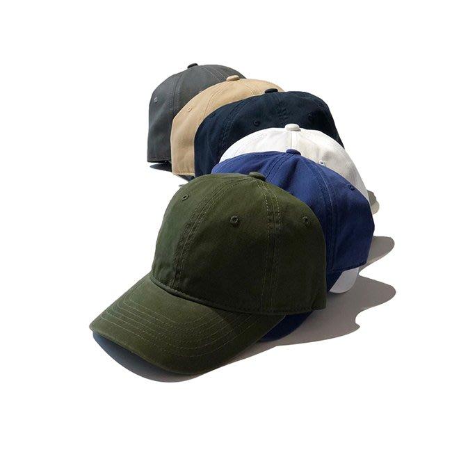 【FAT CAT HOUSE胖貓屋】日系全棉水洗純色鴨舌帽 棒球帽 軍綠色 帽子 素色 運動帽