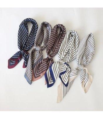 條紋小方巾絲巾春季百搭新款