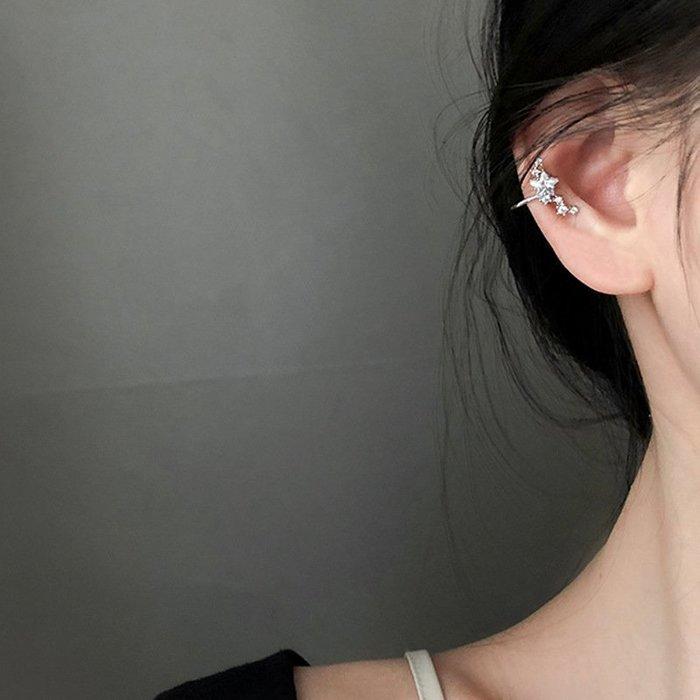 個性 星星 鑲鑽 無耳洞 簡約 氣質 耳骨 耳夾 耳環 【SE871】