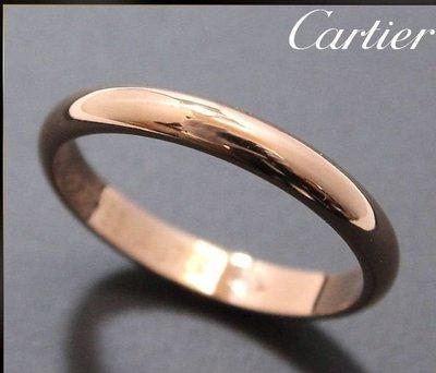 *超低價起標~知名品牌Cartier卡地亞-1895經典款婚戒 18K玫瑰金戒(750) 歐洲圍49號~保證真貨