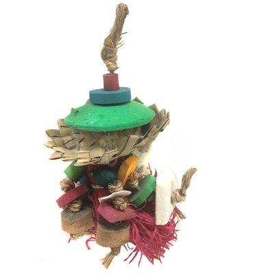 ☆汪喵小舖2店☆ 阿迷購鳥用玩具-美國普拉尼系列 帽子幽靈 // 適合小型鸚鵡