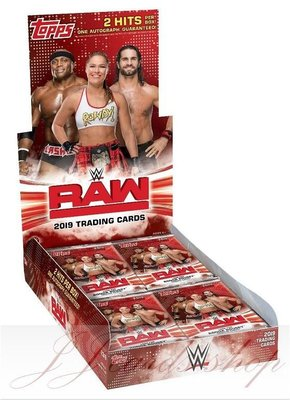 【☆ JJ卡舖 ☆】WWE 2019 Topps WWW RAW Wrestling 美國職業 摔角收藏卡 卡盒