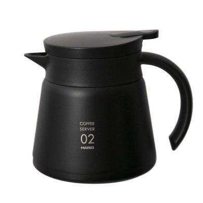 【沐湛咖啡】日本 HARIO VHS-60B (黑) 真空保溫下壺 550ml V60 保溫壺