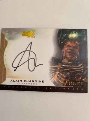 CZX DC heroes & super villains Incubus Alain Chanoine 簽名卡